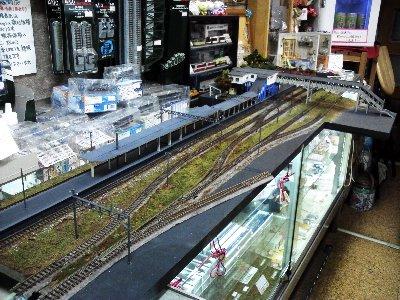 JR田浦駅のジオラマ