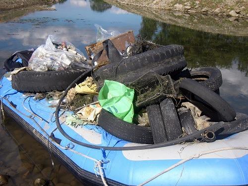 高梁川清掃活動!NatureFamilyはゴミ拾いも頑張ります!