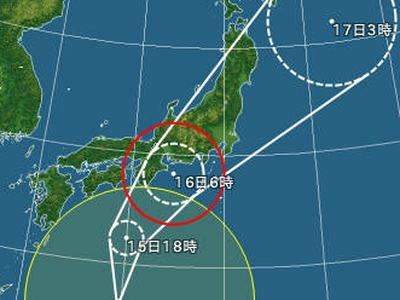 今度は台風18号