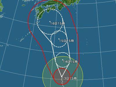台風11号がやってきそうだ