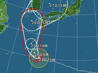 やばそうな台風12号