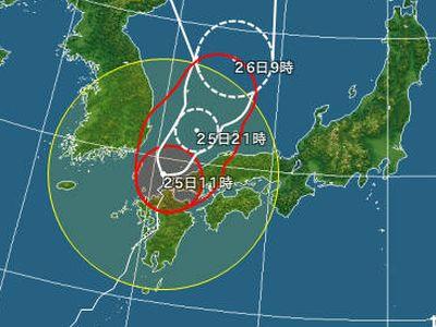 台風15号接近