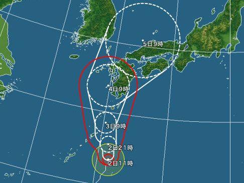台風12号予測