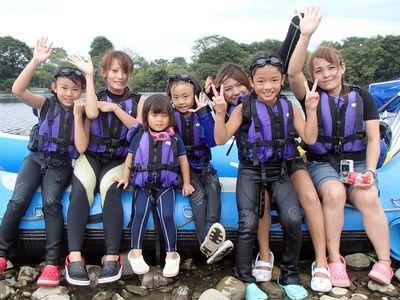 女性7人!川遊び堪能