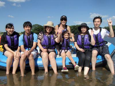 川遊びを皆で楽しみました