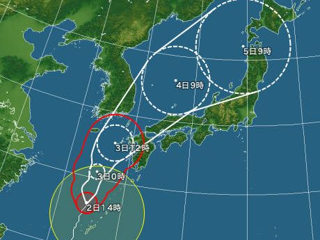 台風7号接近中
