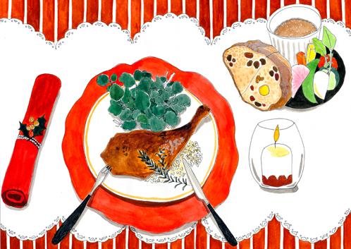 イラスト 料理 クリスマス