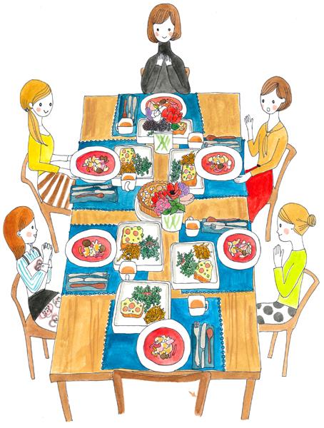 食卓 イラスト 料理