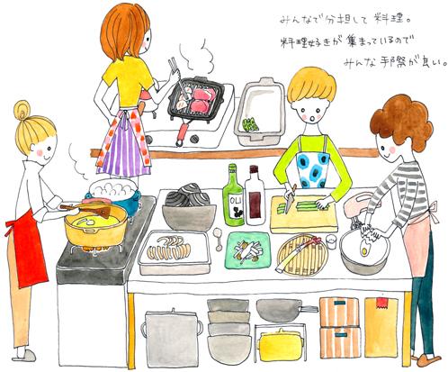 キッチン イラスト 料理