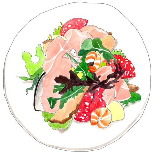サラダ イラスト 食品 料理