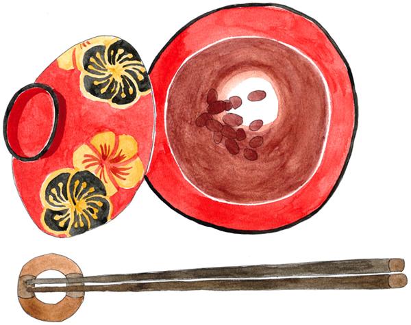 おしるこ イラスト 和食 甘味