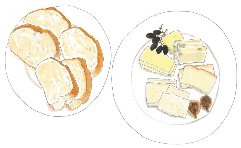 イラスト イラストレーター チーズ 料理 ワイン 今井夏子