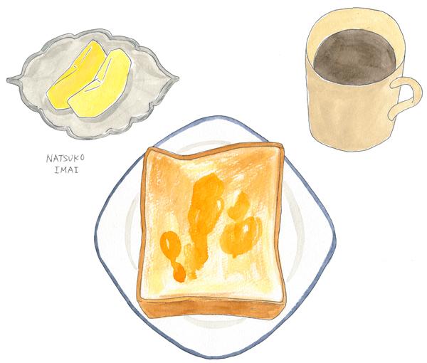 パン 朝食 イラスト