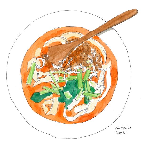 刀削麺 イラスト