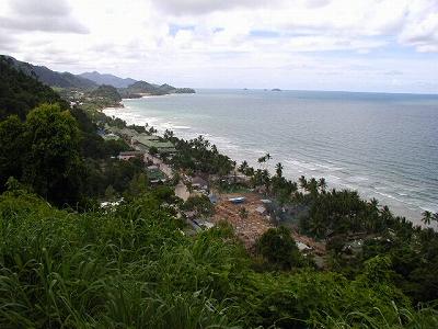 ビーチへの道の脇から見たホワイト・サンド・ビーチ