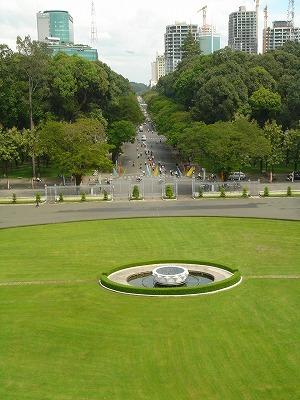 統一会堂の屋上からの眺め