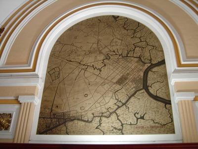 郵便局の壁の装飾