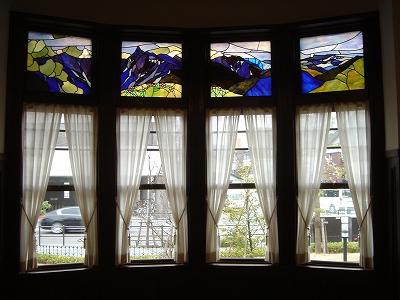 旧川上貞奴邸のステンドガラス