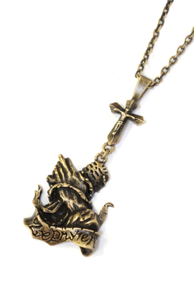 Zephyren (ゼファレン) METAL NECKLACE -sing as pray- ANTIQUE GOLD