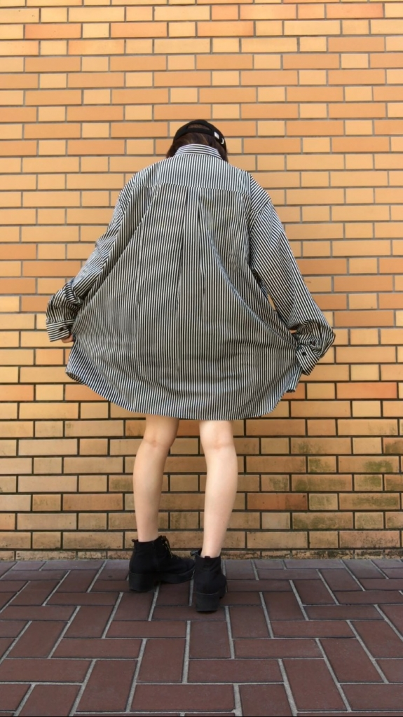 SILLENT FROM ME NAP -Pattern Wide Shirts STRIPE公式通販サイト