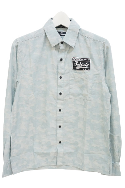 Subciety (サブサエティ) EMBLEM SHIRT L/S-CAMOUFLAGE-公式通販サイト