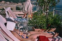 ホテル・メリディアンの屋上プール