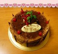 2008/12/12 ダンナさんの誕生日ケーキv