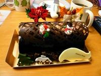 2008/12/23 クリスマスケーキ「ビュッシュ・ド・ノエル」