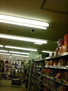 蛍光灯を見張るカメラ