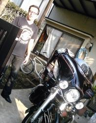 おきやんとバイク・朝
