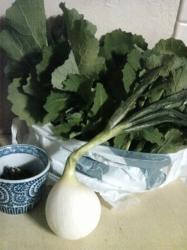 のらぼう菜と玉葱