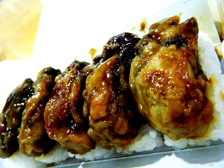 ぷっくり牡蠣のたれ焼き押し寿司2