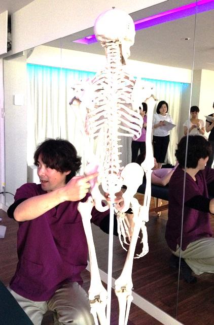スタジオ103解剖学WSの様子