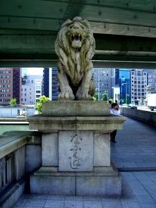 難波橋(ライオン橋) 北東