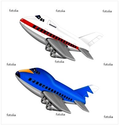 旅客機のイラスト