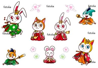 雛祭りのキャラクター