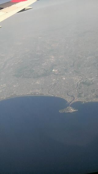 空から見た 江の島