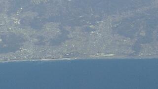 空から見た 大磯ロングビーチ
