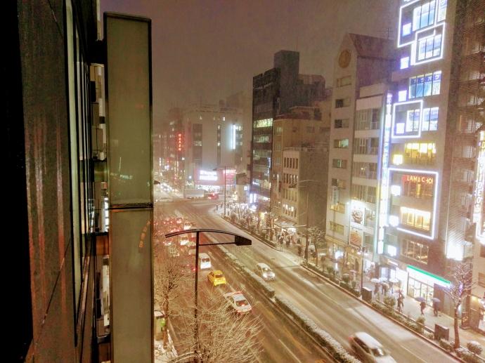 都内でも雪