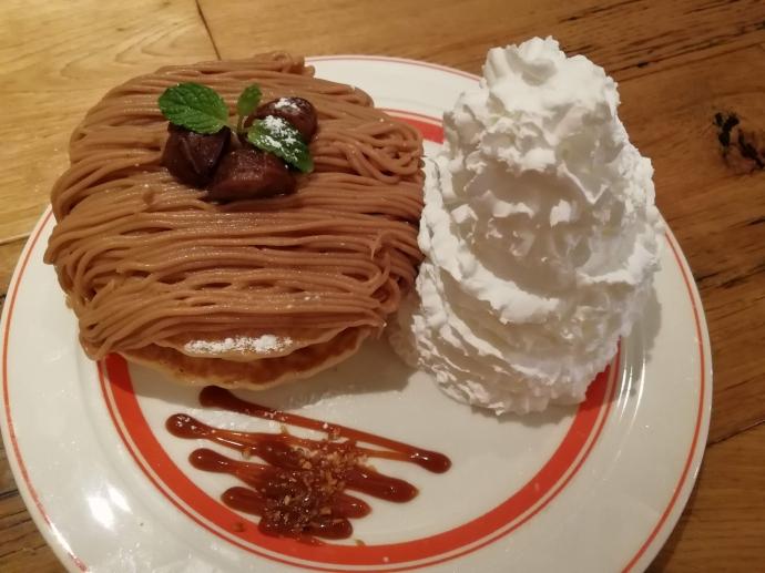 エッグスシングス パンケーキ モンブラン