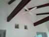 居間の天井。