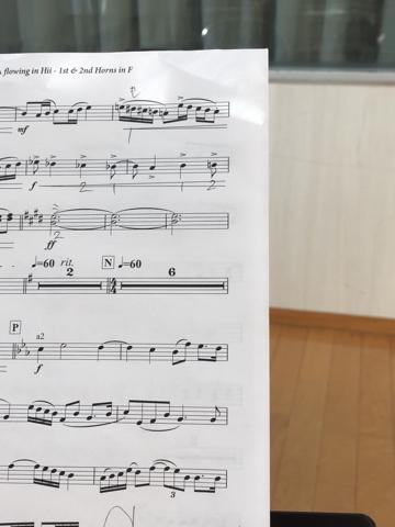 ホルンの楽譜