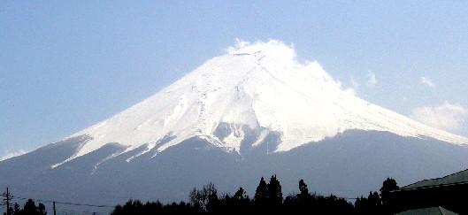 富士吉田から見た富士山