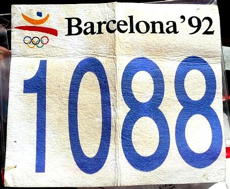 バルセロナ五輪のゼッケン