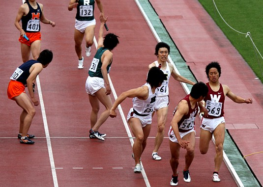 東京六大学陸上1600mR決勝