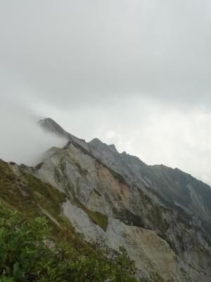 大山の頂上からの景色
