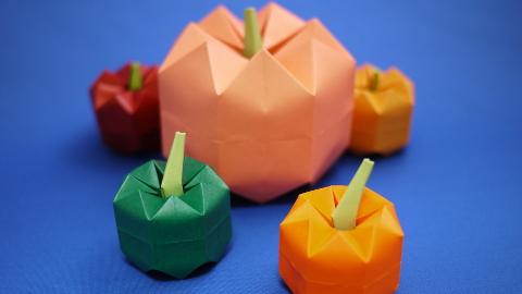 折り紙 ハロウィン かぼちゃ ハロウィンのかぼちゃの折り紙の折り方!おばけのジャックオランタンも