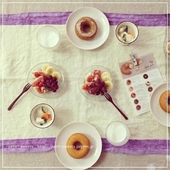 ドーナッツ朝ごはん
