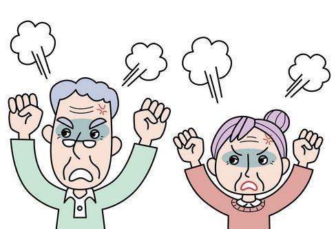 怒っている二人
