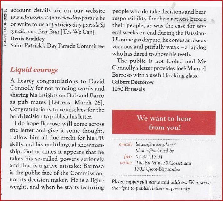 Bulletin 2/4/2009
